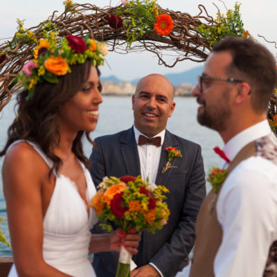 bohemian wedding in Corfu