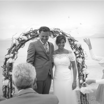 Classy Seaside Wedding on a cloudy day