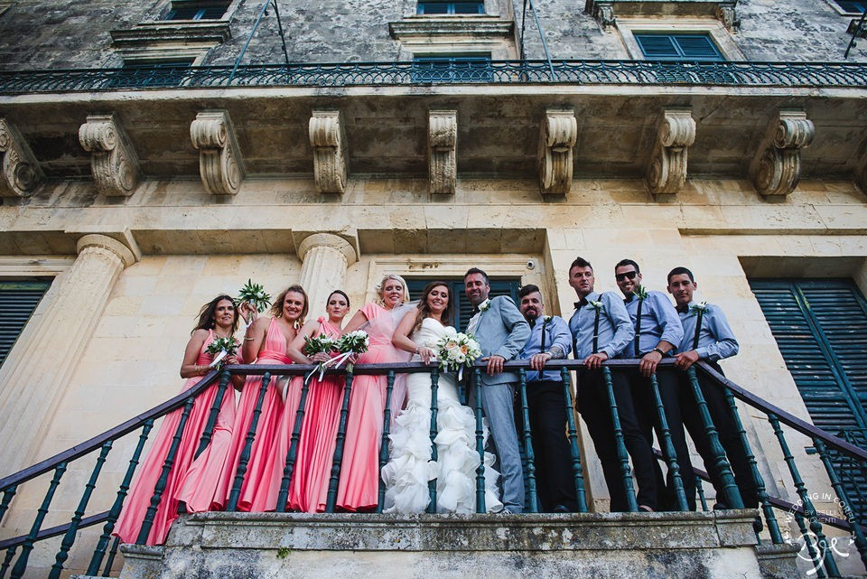 corfu palace gardens wedding